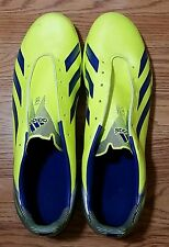 Adidas Soccer Shoes f30 FG Neon Yellow & Blue Size US 13