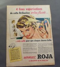 PUB PUBLICITE ANCIENNE ADVERT CLIPPING 70717 BRILLANTINE ROJA VAPORISEZ POISSE P