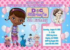 DOC McSTUFFINS CUSTOM PRINTABLE BIRTHDAY PARTY INVITATION & FREE THANK U CARD