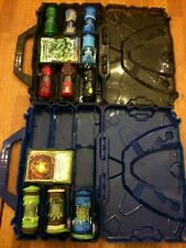 Bandai Monsuno Bundle with double side case including 10 Core Rock and cards