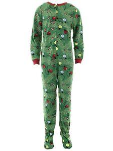 Weatherproof Boys Green Christmas Footed Blanket Sleeper One-Piece Pajamas 8