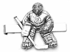 Ice Hockey Goal Tender Pewter Tie Clip Slide FREE UK POSTAGE Gift pouch