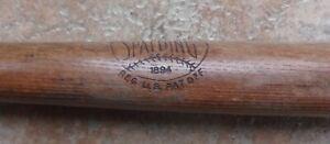 Antique Vintage Spalding Wood Bat 1894 Patent Softball Baseball Bat