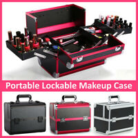Professional Large Make Up Box Cosmetic Jewellery Vanity Storage Case Bag Travel