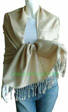 Elegant Pashmina Cashmere Scarf Wool Shawl/Wrap/Beige
