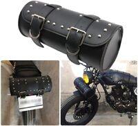 Universal Motorcycle Tool Bag PU Leather Handlebar Saddle Bags  Fork Tool Pouch