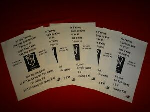 5 Vietnam War VC Propaganda Leaflets Against US 1st FIELD FORCE VIETNAM IFFV