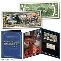 JOHN WAYNE 1939 Stagecoach Genuine $2 Bill in 8x10 Collectors Display