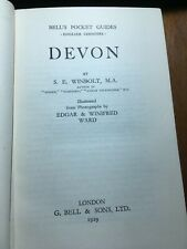 First edition 1929 Bell's guide to DEVON S E Winbolt