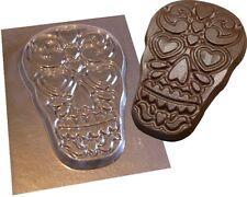 Azúcar Calavera Cráneo Chocolate Molde Yeso Molde De Halloween Día de los muertos designb