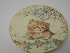 Royal Worcester Crownware Kitten Classics Plate Collection - Cat Nip - 1985