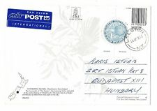 1952 New Zealand air mail post card to Hungary