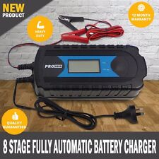 NEW 8 Stage Fully Automatic Battery Charger Agm Gel Caravan Rv 150Ah Camper Van