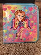 VTG Lisa Frank Large Girl Angel Hearts 3 Ring Binder Trapper Keeper Notebook