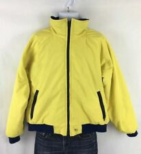 Vintage Woolrich Teton Men's Yellow Parka Jacket XL Fleece Lined Windbreaker
