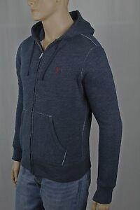 Polo Ralph Lauren Blue Grey Hoodie Full Zip Sweatshirt NWT