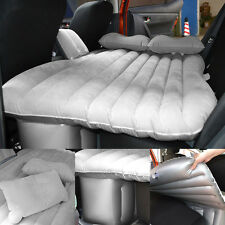 Gray Auto Car Inflatable Air Cushion Seat Cover Sleep Rest Bed Outdoor Mattress