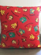 """Pokemon Red Characters 16"""" x 16"""" Square Cushion Cover 100% Cotton"""