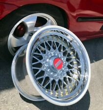 BBS rs2 Chrome Optique 16 in 4x100 4x108 9j 10j réplique jantes