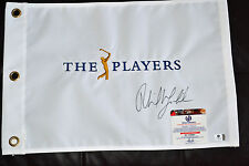 PHIL MICKELSON SIGNED PLAYERS FLAG - GLOBAL COA - *MASTERS * BRITISH OPEN