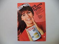 advertising Pubblicità 1969 OIL OLIO TOTAL GT