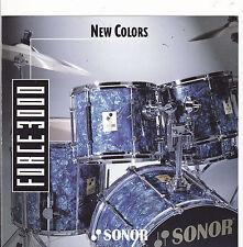 VINTAGE MUSICAL INSTRUMENT CATALOG #10533 - 1994 SONOR DRUMS - FORCE 3000 COLORS