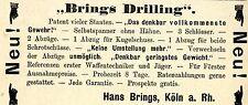 Hans Brings Köln WAFFEN & BÜCHSENMACHER Historische Reklame von 1894