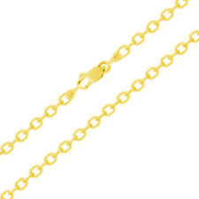 Fancy Rolo Anklets Bracelet 14K Yellow Gold Solid Lobster Lock 10 inches