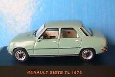 RENAULT SIETE TL 1975 IXO MODELS CLC122 1/43 VERT CLAIR LIGHT GREEN METAL