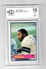 HARVEY MARTIN 1983 TOPPS  #50   BCCG 10