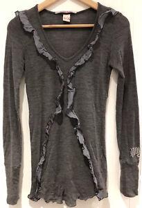 Nolita Grey Wool & Silk Top