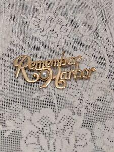 Vintage Remember Pearl Harbor Brooch