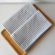 Set of 4 Washable Everyday Basic kitchen cloth 100% cotton dinner Stripe Napkins