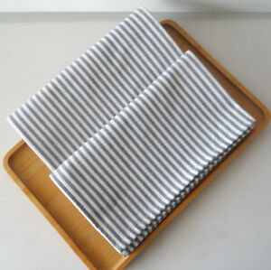 Set of 4 Washable Everyday Basic kitchen cloth 100% cotton dinner Stripe Napkins