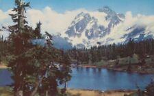 Vintage Postcard 76 Gasoline Union Oil Mount Shukson Washington Unposted