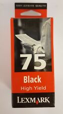 Lexmark Original Genuine 75 BLACK Ink Cartridge  -  12A1975E