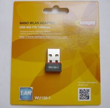 WLAN Stick 150Mbit Wireless Lan Sempre Nano USB 2.0 Adapter WU150-1 Stick Win10