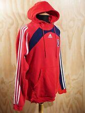 Futbol Men's Adidas Chicago Fire Soccer Red Logo Set Pullover Hoodie XL
