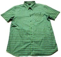 Oakley Mens Green Plaid Front Pocket Button Front Shirt Size XL