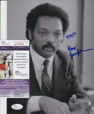 Jesse Jackson signed 8x10 Photo w/ JSA COA #Q70634 Martin Luther King Jr