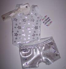 "3piece Set Gymnastics Dance Leotard Clothing to fit 18"" American Girl Dolls"