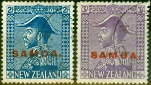 Samoa 1927 Set of 2 SG169-170 Fine Used