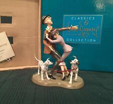 "WDCC 101 Dalmatians - Roger & Anita and Pongo & Perdita ""Tangled Up Romance"""