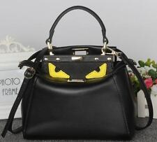 KL11 women Cartoon monster Genuine leather messenger Tote Handbag shoulder Bag