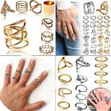 Set Ringe Knuckle Stapelring Above Fingerspitzen Nagel Boho Vintage Damenschmuck