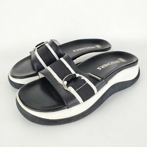 Y2K 90s Vintage Sketchers Chunky Platform Slip On Sandals Mules Slides size 8
