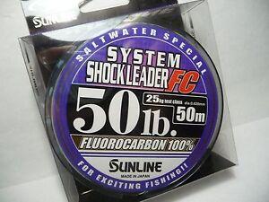 SUNLINE SYSTEM SHOCK LEADER 50LB (50m) FLUOROCARBON 100% NEW DU-3