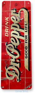 TIN SIGN Dr Pepper Metal Décor Wall Art Cola Store Shop Cave A341