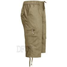 Pantaloni da uomo beigi medi poliestere