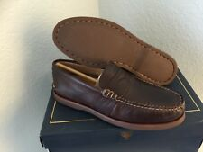 "NIB MEN SPERRY ""GOLD CUP"" PENNY LOAFER/BOAT SHOES/FOOTWEAR SIZE 7  BROWN"